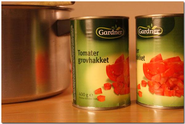 Ferdighakkede tomater - energisparging...